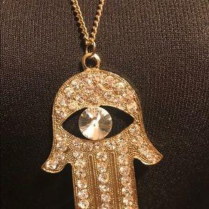 🌟 Hamsa Fashion Long Necklace 🌟